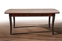 Стол обеденный Квартет 2,3м, темный орех 1800(+500)*900мм, кладной