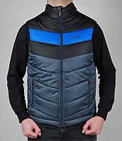 Жилетка мужская Nike 1459 Тёмно-серая