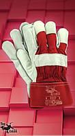 Защитные перчатки RHIP. Перчатка рабочая из лицевой кожи, фото 1