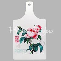Доска для нарезки сувенирная «Роза», 33х18 см.