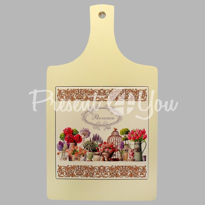 Доска для нарезки сувенирная «Прованс. Цветы», 33х18 см.