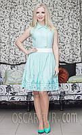 Летнее женское платье с отрезной талией, фото 1