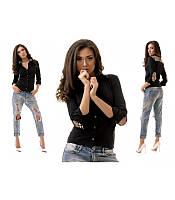 Рубашка женская с модными вставками