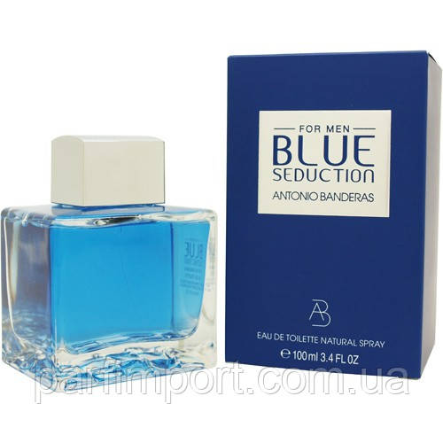 Antonio Banderas Blue Seduction Men EDT 100 ml  новий дизайн (оригинал подлинник  Испания)