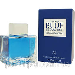 Antonio Banderas Blue Seduction Men EDT 100 ml  новий дизайн (оригинал подлинник  Испания)
