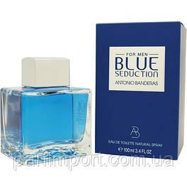 Antonio Banderas Blue Seduction Men EDT 100 ml  туалетная вода мужская (оригинал подлинник  Испания)