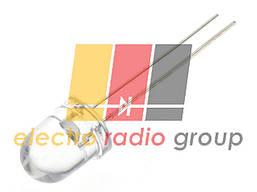 Светодиод  8мм красный прозрачный  1500мКд FYL-8003URC