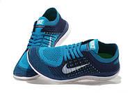 Мужские кроссовки Nike Free Run 4.0 Flyknit Blue White
