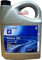 Синтетическое моторное масло GM Dexos 2 Longlife 5W-30, емкость 5л.