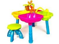 Песочный столик с набором и  стульчиком