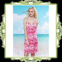 Пляжное платье-трансформер Розовые пятнышки