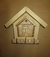 Ключница открытая на 3 ключа Дом, фото 1