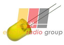 Светодиод 10мм желтый диффузный   90мКд 103YD
