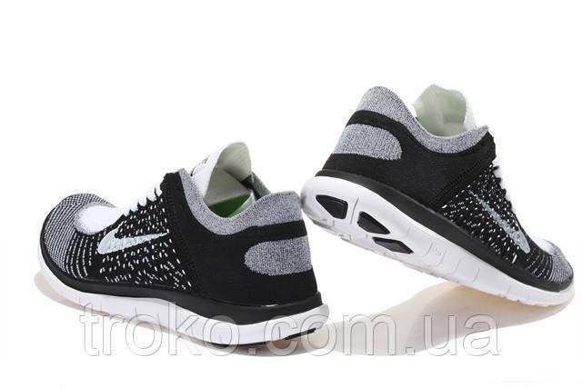 Кроссовки Nike Free Run 4.0 Flyknit Black White