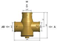 Regulus TSV6B 1 ½' 55C антиконденсационный термостатический смесительный клапан