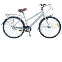 """Велосипед 26""""  Leon Solaris Lady Al с багажником, белый 2014"""