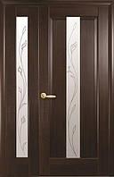 Комплект дверей двустворчатый Премьера с сатином и Р2 от Новый стиль (венге new, зол.ольха, каштан, ясень)