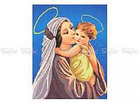 Схема вышивки бисером «Мать и дитя» (A3)