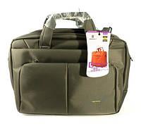 Сумка-портфель для ноутбука компьютера текстильная серая Brinch 1333-2010, фото 1