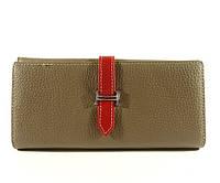 Кожаный кошелек Hermes A 514 серый, расцветки в наличии