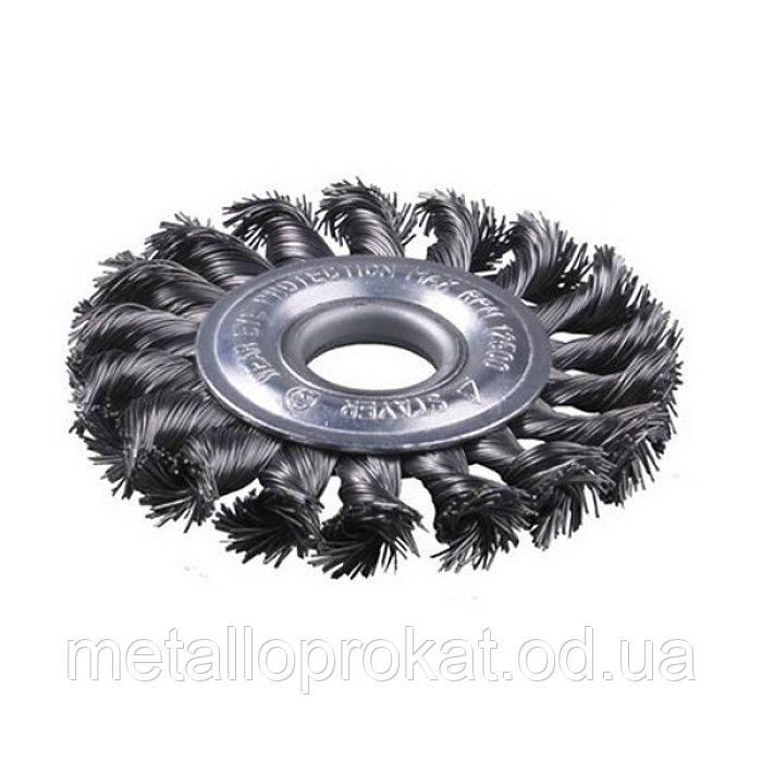 Щётка диск-100мм(сталь)круглый для УШМ