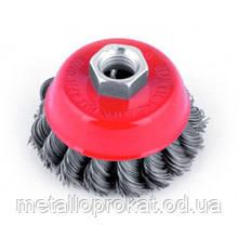 Щітка диск-100мм(сталь)торцевій(жорсткий)
