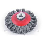 Щётка диск-125 мм(сталь) конический (жёсткий)