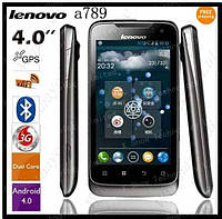 Lenovo A789 Smart Phone Android 4.0 MTK6577 Android 4.0 GPS 3G Dual core 1.0GHZ Russian menu, фото 1