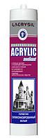 Lacrysil герметик силиконизированный акриловый белый 280 мл, фото 1