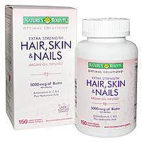 Витамины для волос, ногтей и кожи Nature's Bounty, 150 капсул. Сделано в США.
