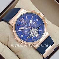 Бюджетные часы Ulysse Nardin  Maxi Marine Chronometer 0009 Gold \ Blue