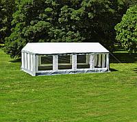 Тканевый садовый павильон - шатер 5*8 м (стальной каркас + влагоотталкивающий)