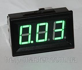 "Амперметр DC 10А 0,56"" зеленый"