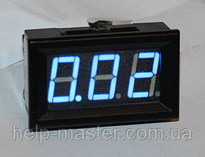"Амперметр DC 10А 0,56"" голубой"