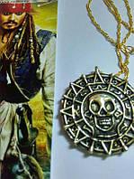Кулон монета Ацтеков посеребренное золото