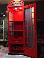 Бар в стиле английской телефонной будки