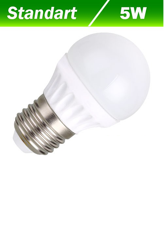 Светодиодная лампа Biom BG-203 G45 5W E27 3000К, фото 2