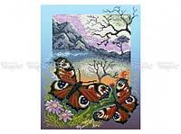 Схема вышивки бисером «Бабочки павлиний глаз» (A3)