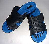 Мужские шлепанцы ЕВА двухцветный переплет(синие)