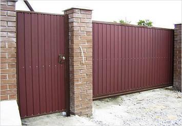 Ворота из профнастила в Запорожье, фото 2