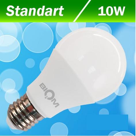 Светодиодная лампа Biom BG-209 А60 10W E27 3000К, фото 2