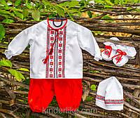 Ручная вышивка Одежда для крестин мальчика, фото 1