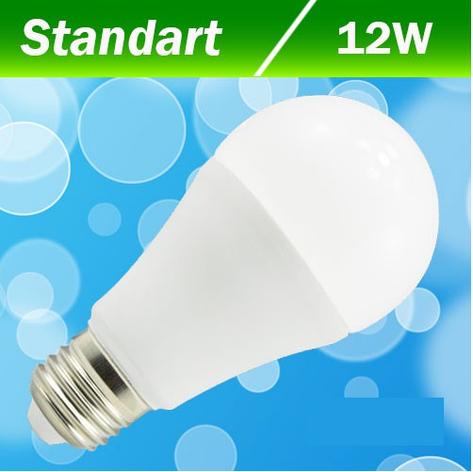 Светодиодная лампа Biom BB-422 А60 12W E27 4200К, фото 2