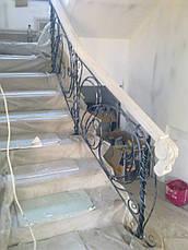 Кованые перила с мрамором, фото 2