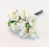 Искусственные цветы - Розочка белая