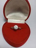 Кольцо позолота с фианитом G18 модные ювелирные украшения кольца