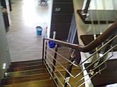 Перила нержавеющие с деревянным поручнем, фото 2