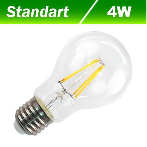 Светодиодная лампа Biom FL-308 А60 4W E27 4500К