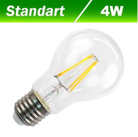 Светодиодная лампа Biom FL-307 А60 4W E27 3000К, фото 2