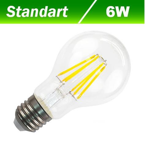 Светодиодная лампа Biom FL-310 А60 6W E27 4500К, фото 2